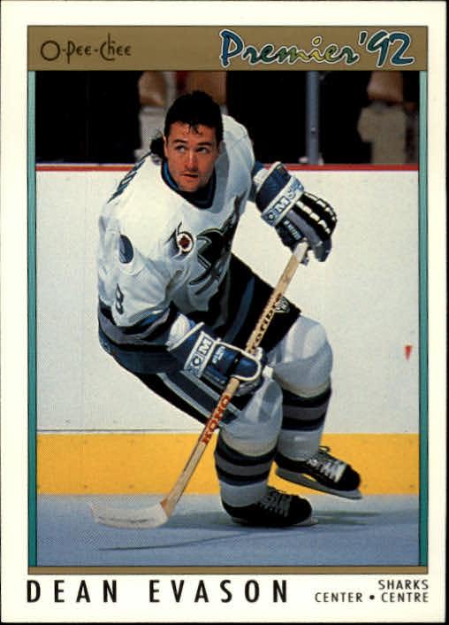 1991-92 OPC Premier #36 Dean Evason