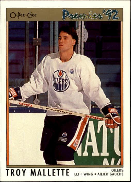 1991-92 OPC Premier #39 Troy Mallette