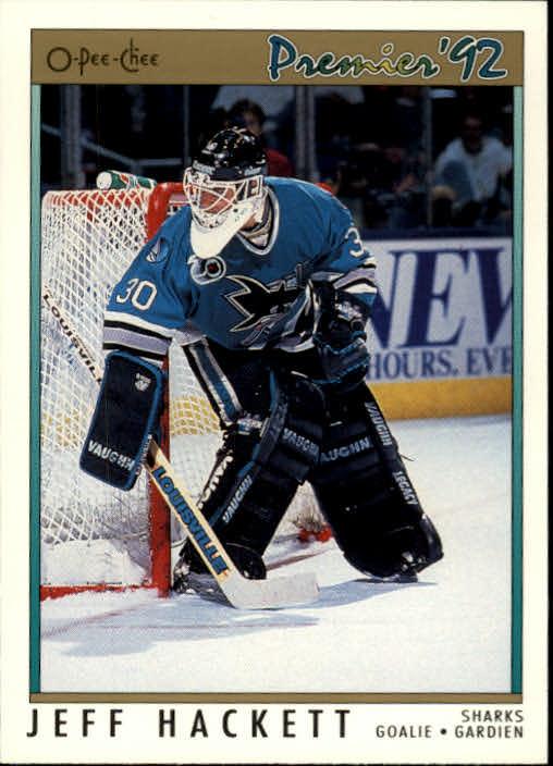 1991-92 OPC Premier #108 Jeff Hackett
