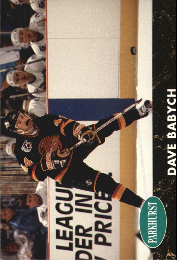 1991-92 Parkhurst #187 Dave Babych