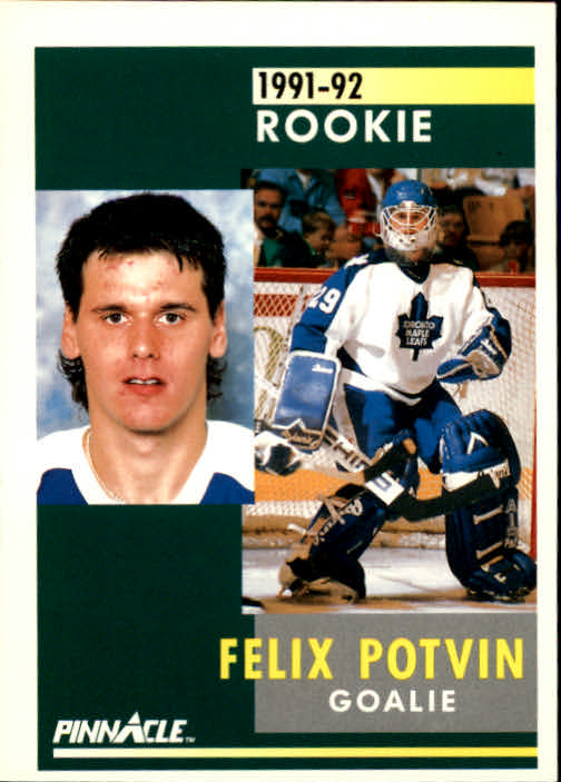 1991-92 Pinnacle #345 Felix Potvin