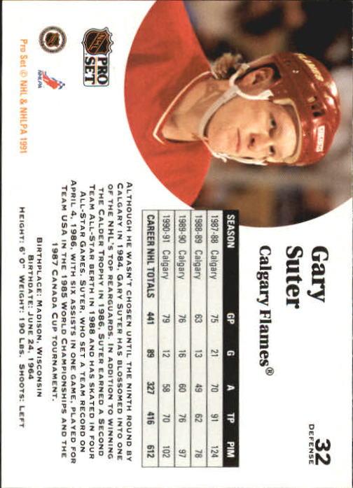 1991-92 Pro Set #32 Gary Suter back image