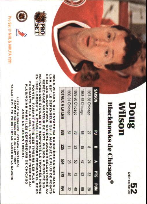 1991-92 Pro Set #52 Doug Wilson back image