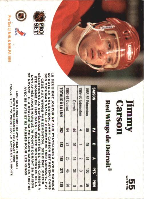 1991-92 Pro Set #55 Jimmy Carson back image