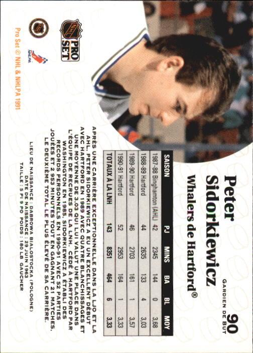 1991-92 Pro Set #90 Peter Sidorkiewicz back image