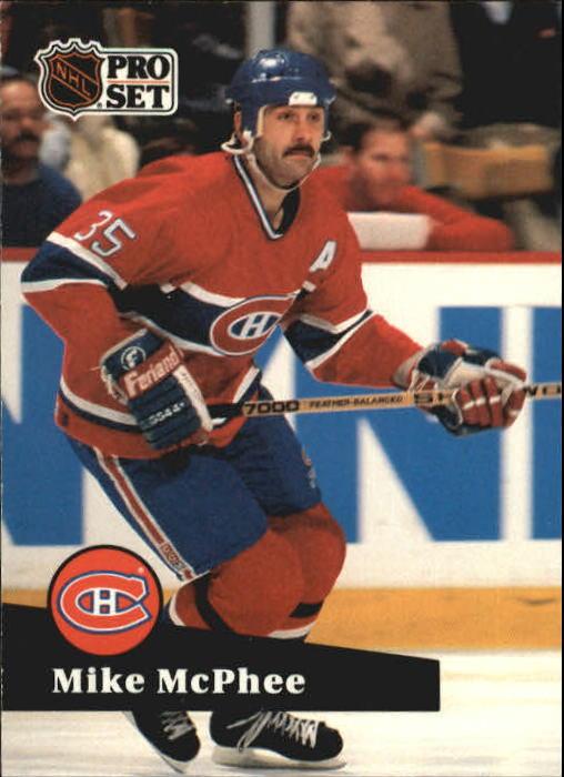 1991-92 Pro Set #129 Mike McPhee