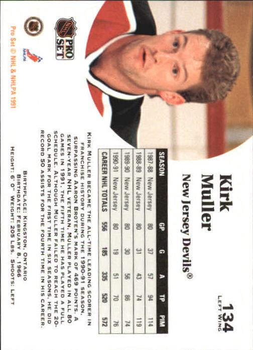 1991-92 Pro Set #134 Kirk Muller back image