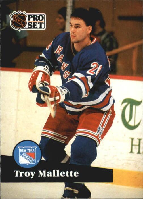 1991-92 Pro Set #157 Troy Mallette
