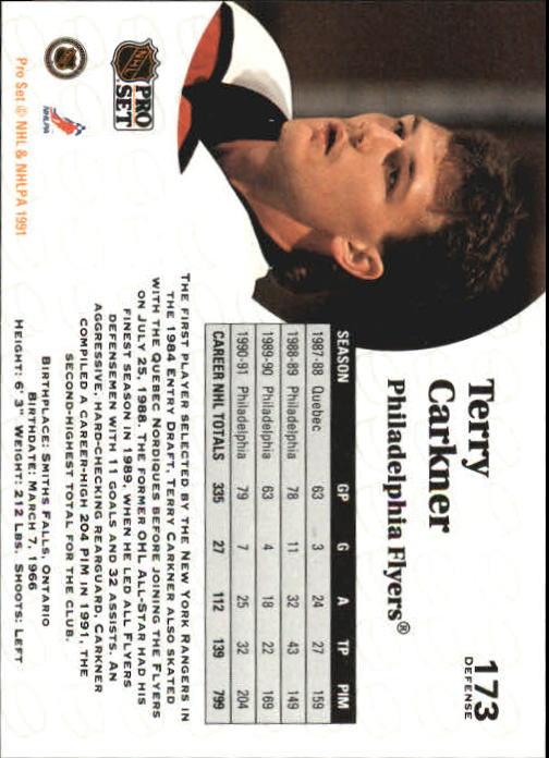 1991-92 Pro Set #173 Terry Carkner back image