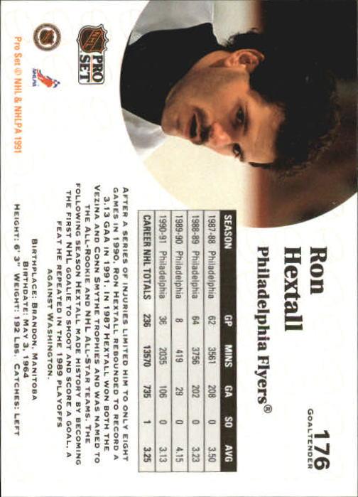 1991-92 Pro Set #176 Ron Hextall back image
