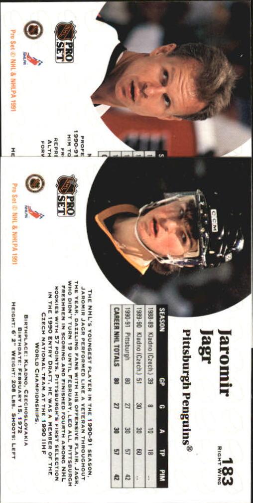 1991-92 Pro Set #182 Mark Howe back image