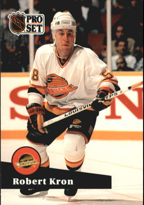 1991-92 Pro Set #239 Robert Kron UER/(Type in stat box is/smaller than others