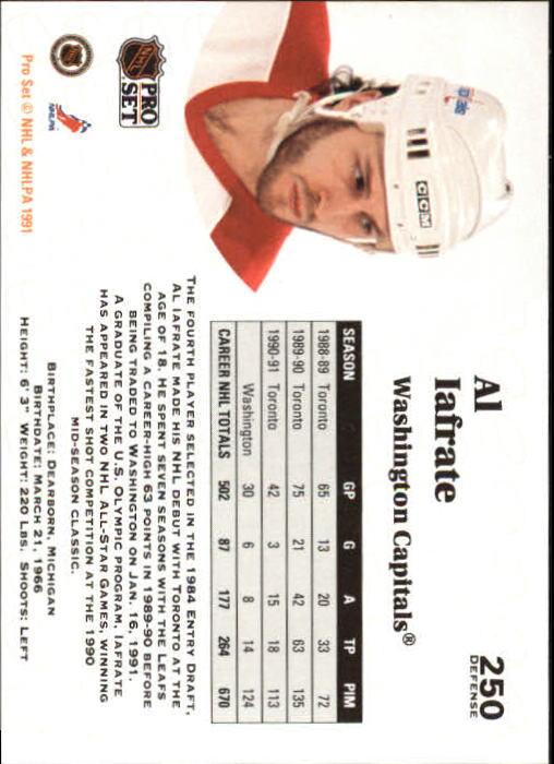 1991-92 Pro Set #250 Al Iafrate back image