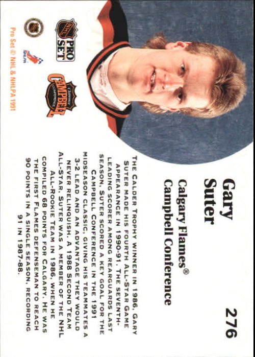 1991-92 Pro Set #276 Gary Suter AS back image