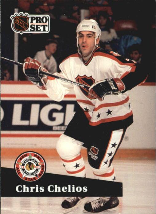 1991-92 Pro Set #278 Chris Chelios AS