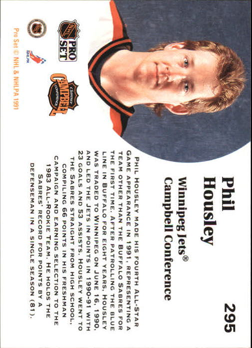 1991-92 Pro Set #295 Phil Housley AS back image