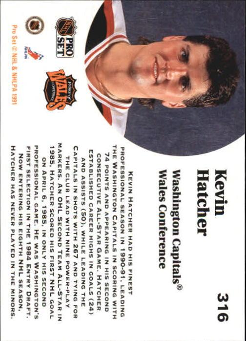 1991-92 Pro Set #316 Kevin Hatcher AS back image