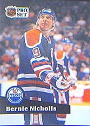 1991-92 Pro Set #386 Bernie Nicholls