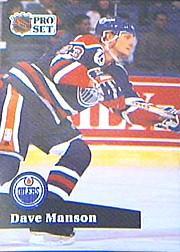 1991-92 Pro Set #389 Dave Manson