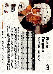 1991-92 Pro Set #433 Pierre Turgeon back image