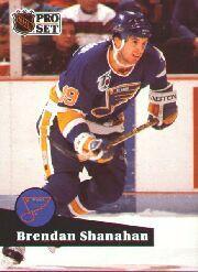 1991-92 Pro Set #475 Brendan Shanahan