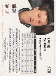 1991-92 Pro Set #478 Doug Wilson back image
