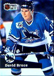 1991-92 Pro Set #485 David Bruce RC