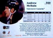 1991-92 Pro Set #500 Andrew McBain back image