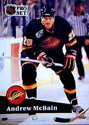 1991-92 Pro Set #500 Andrew McBain