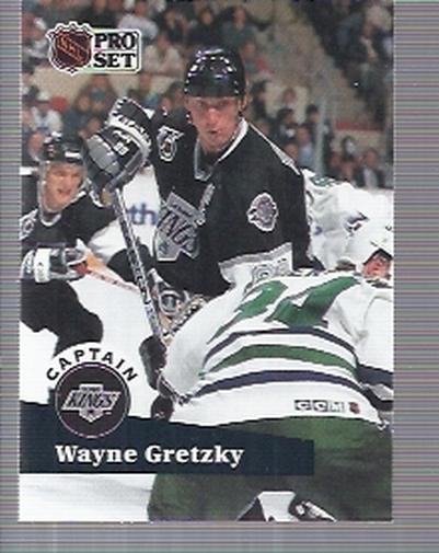 1991-92 Pro Set #574 Wayne Gretzky CAP