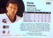 1991-92 Pro Set #584 Doug Wilson CAP back image