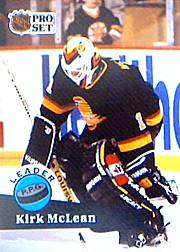 1991-92 Pro Set #603 Kirk McLean UER LL