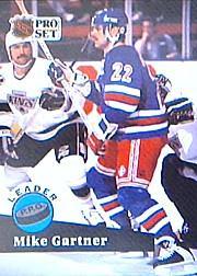 1991-92 Pro Set #604 Mike Gartner LL