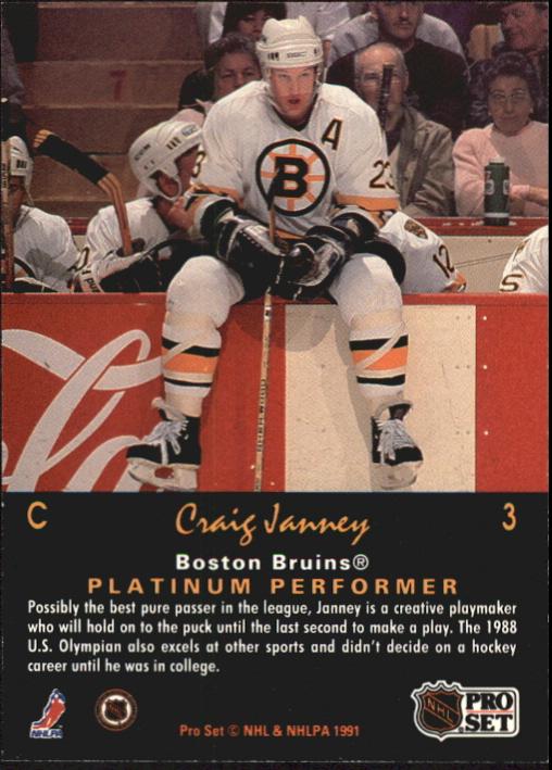 1991-92 Pro Set Platinum #3 Craig Janney back image