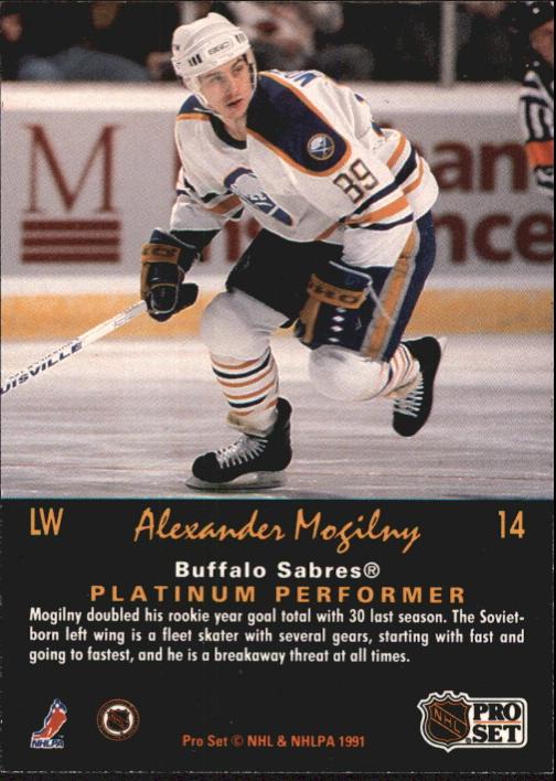 1991-92 Pro Set Platinum #14 Alexander Mogilny back image