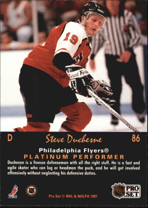 1991-92 Pro Set Platinum #86 Steve Duchesne back image