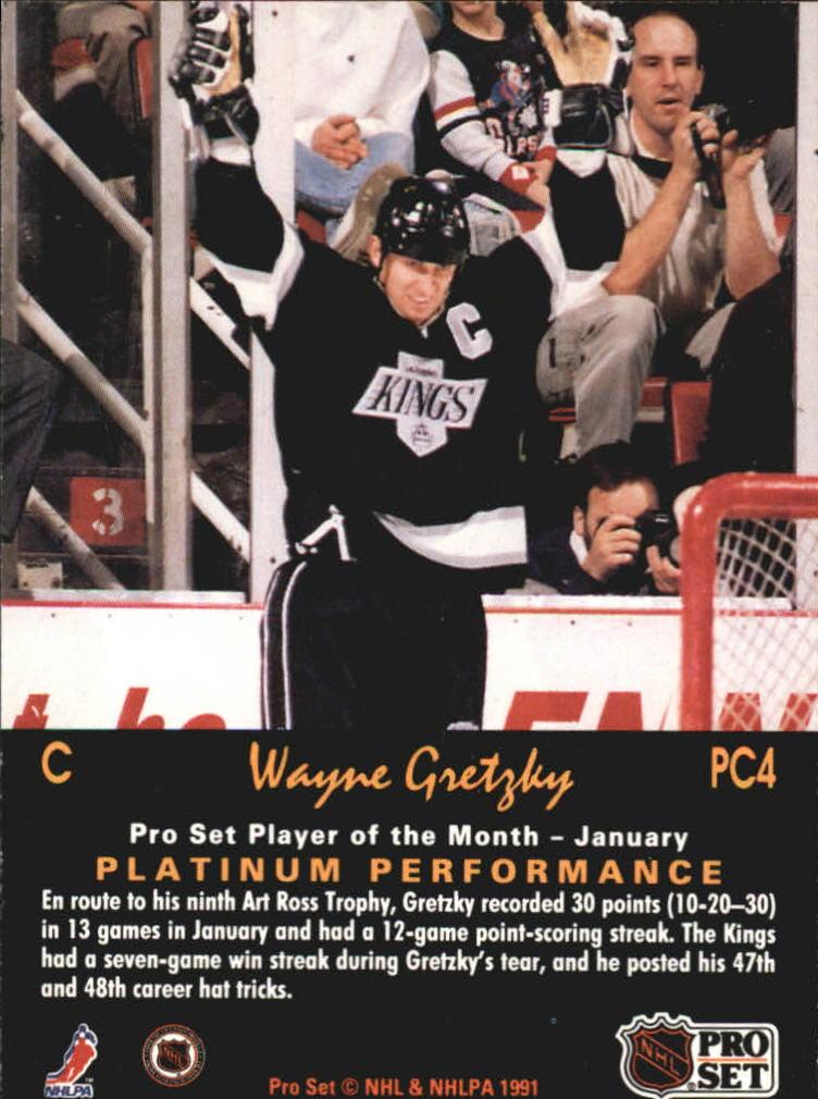 1991-92 Pro Set Platinum PC #PC4 Wayne Gretzky back image