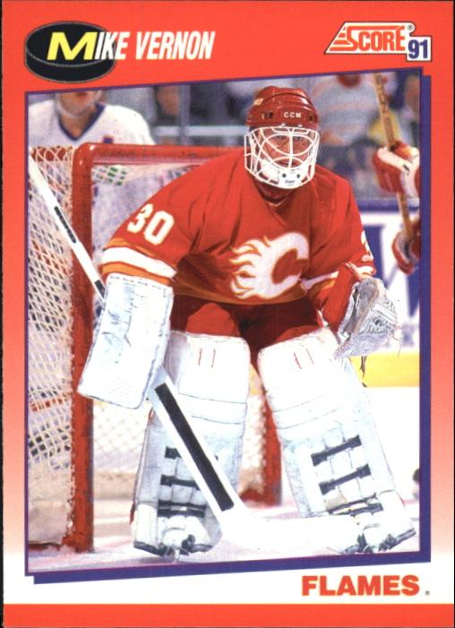 1991-92 Score Canadian Bilingual #80 Mike Vernon