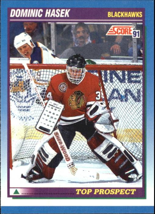 1991-92 Score Canadian Bilingual #346 Dominik Hasek RC