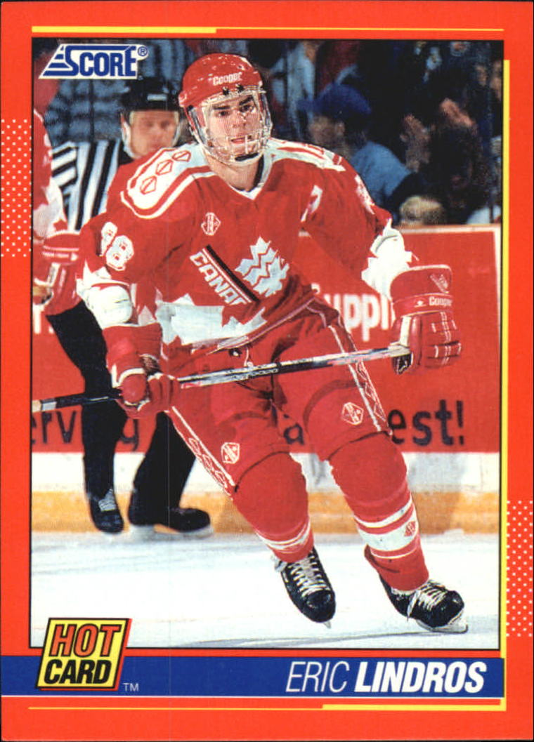 1991-92 Score Hot Cards #1 Eric Lindros