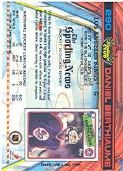 1991-92 Stadium Club #290 Daniel Berthiaume back image