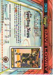 1991-92 Stadium Club #303 Dave Lowry back image