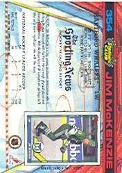 1991-92 Stadium Club #354 Jim McKenzie RC back image
