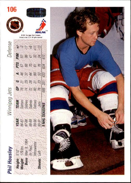 1991-92 Upper Deck #106 Phil Housley back image