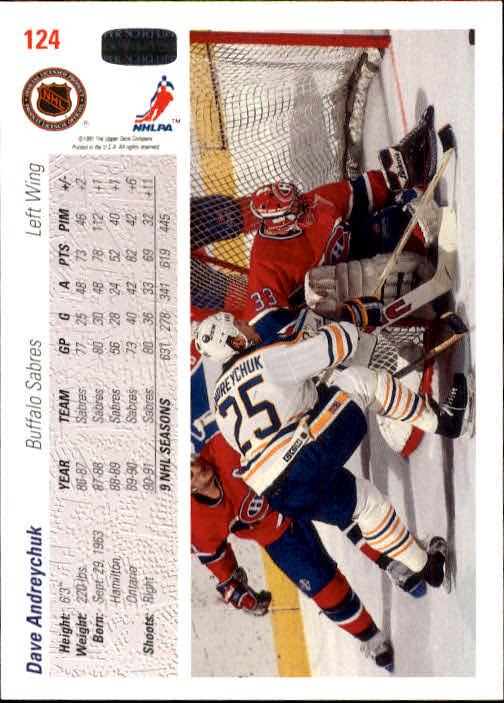 1991-92 Upper Deck #124 Dave Andreychuk back image