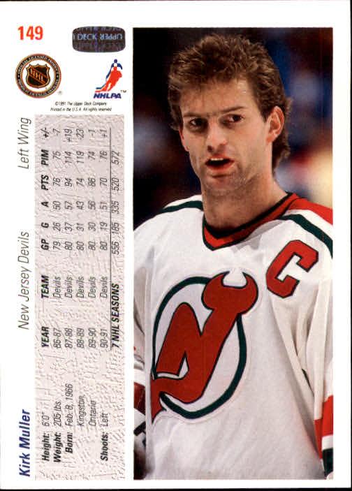 1991-92 Upper Deck #149 Kirk Muller back image