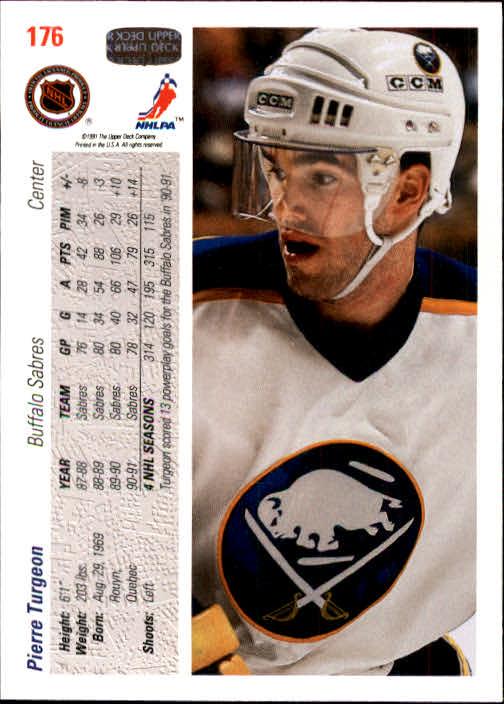 1991-92 Upper Deck #176 Pierre Turgeon back image