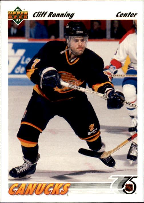 1991-92 Upper Deck #208 Cliff Ronning