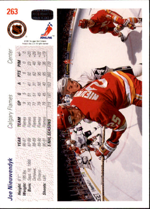 1991-92 Upper Deck #263 Joe Nieuwendyk back image