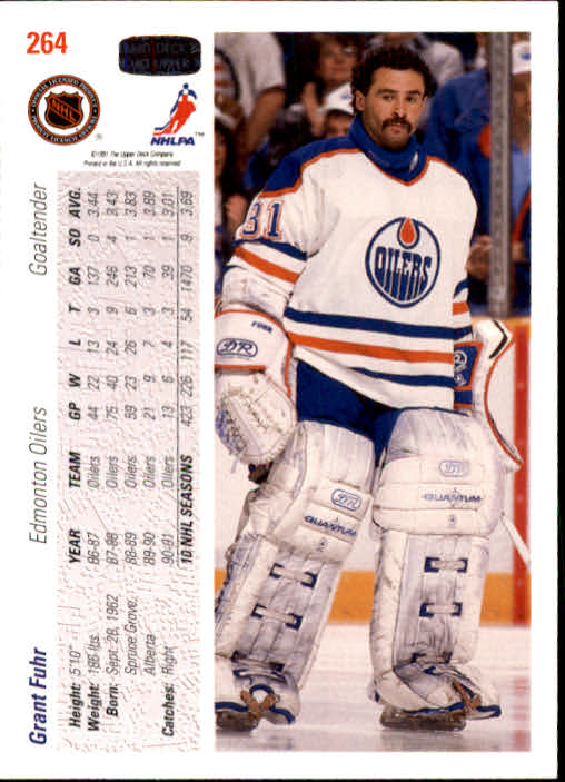 1991-92 Upper Deck #264 Grant Fuhr back image